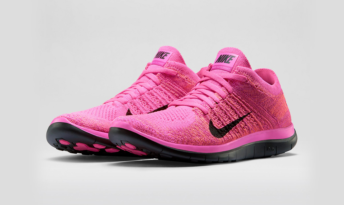 nike free flyknit 4 0 pink silver. Black Bedroom Furniture Sets. Home Design Ideas