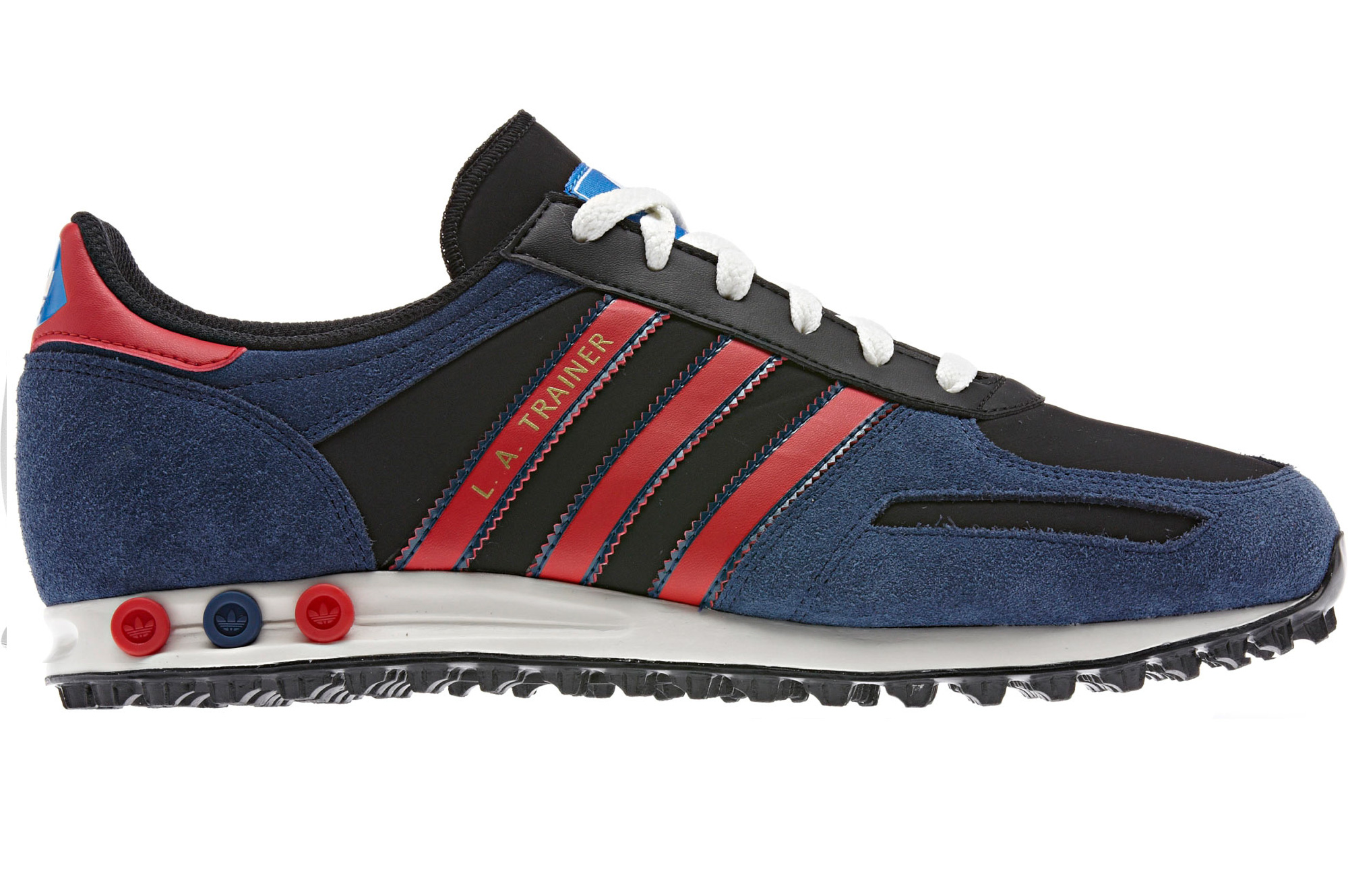 adidas originals la trainer red blue