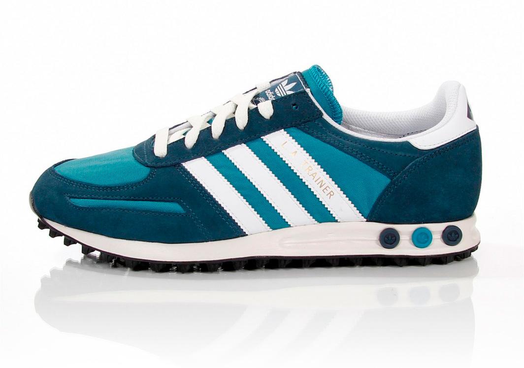 adidas la trainer blue turquoise white. Black Bedroom Furniture Sets. Home Design Ideas