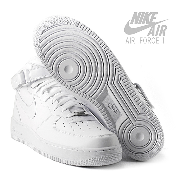Hvide Nike Air Force 1 Mid