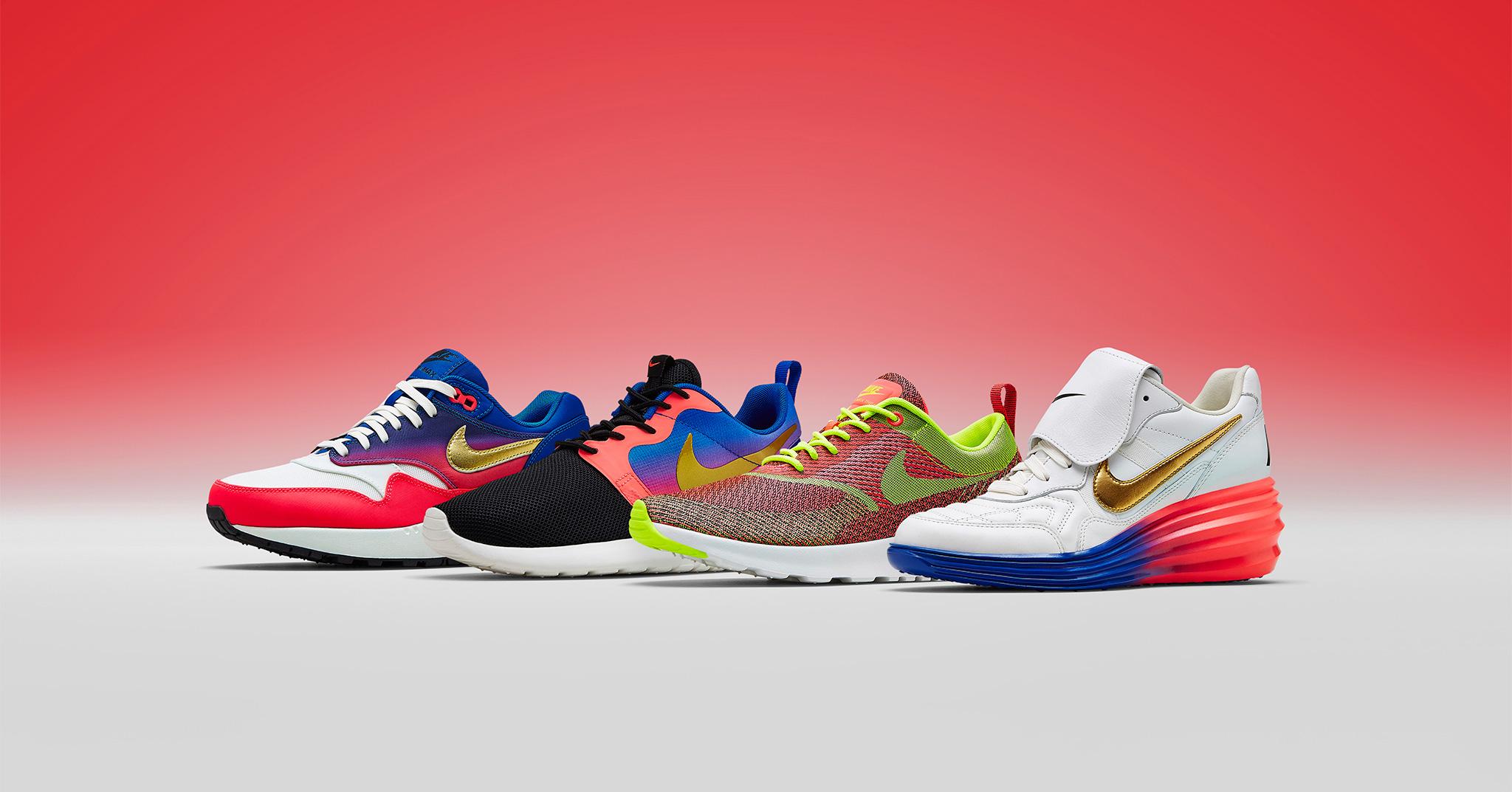 Nike Air Max Thea Premium Lilla og Røde Cool Sneakers