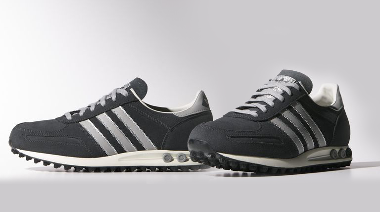 huge selection of b2af9 1a6e1 Grå Adidas LA Trainer Sneakers