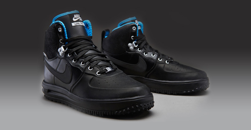 Nike Lunar Force 1 SneakerBoot Black/Metallic Silver