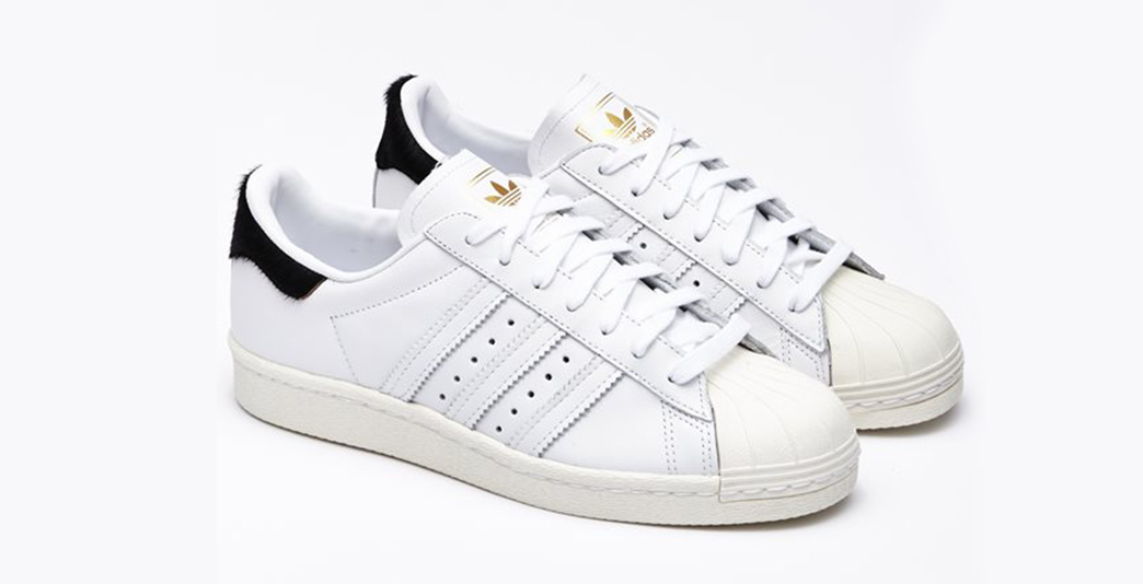 Hvide Adidas Superstar 80s