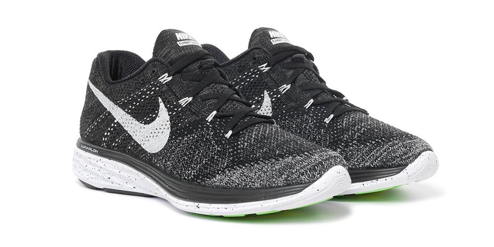 Nike Flyknit Lunar 3 black white 'Oreo'