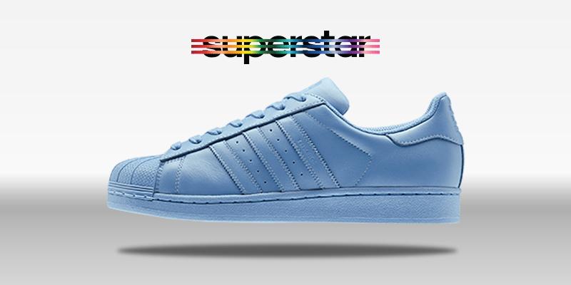 Adidas Superstar Supercolor Half Blue