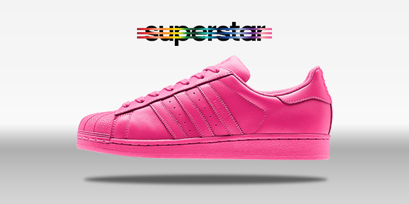 Adidas Superstar Supercolor Semi Solar Pink