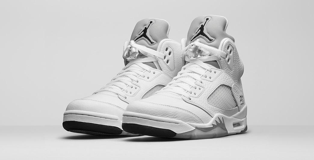Nike Air Jordan 5 Retro Metallic Silver