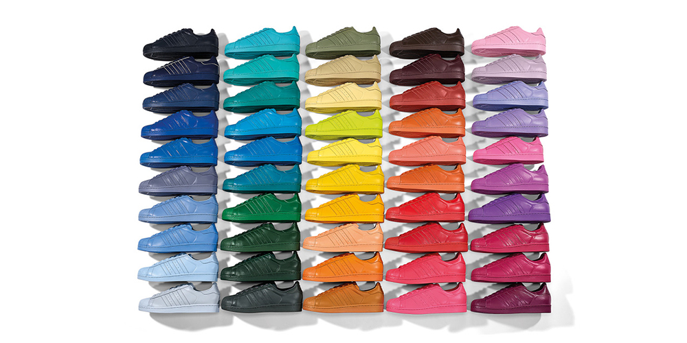 Pharrell Williams Adidas Superstar Supercolor Collection