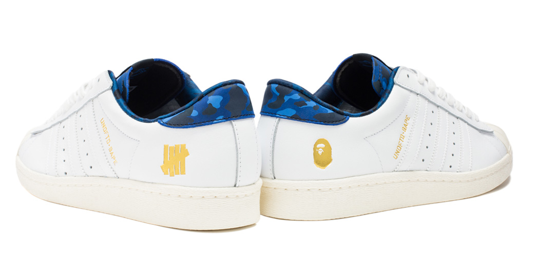 UNDFTD x Bathing Ape x Adidas Superstar White