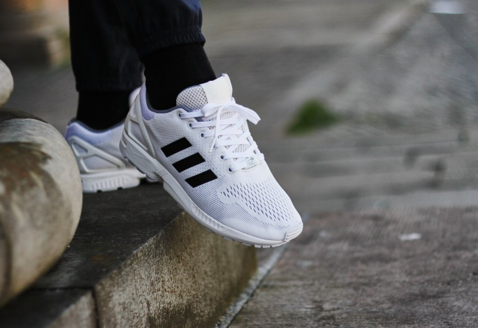 Adidas ZX Flux White Black Cool Sneakers