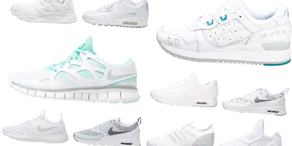 13 hvide sneakers til damer