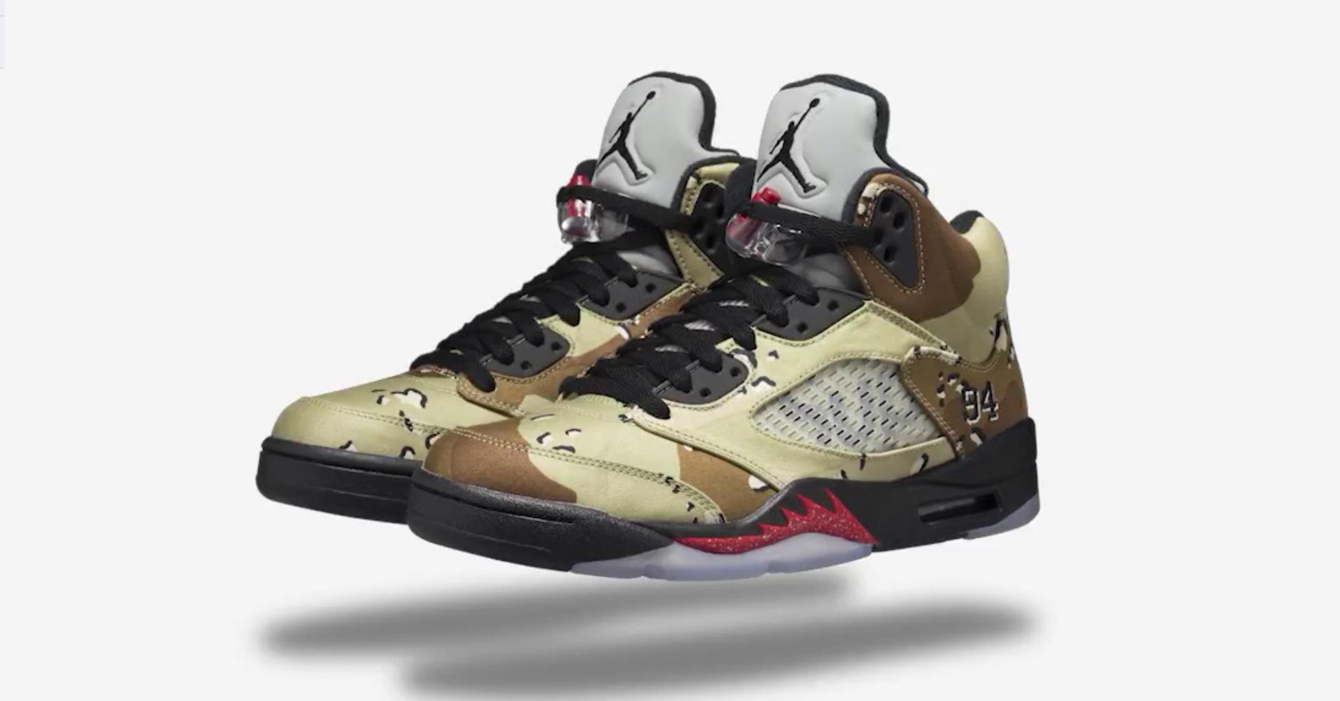 Nike Air Jordan 5 x Supreme