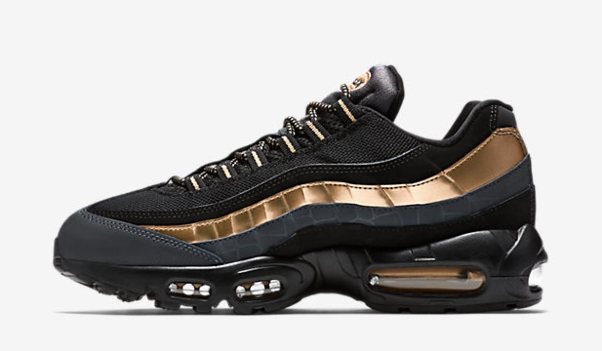 nike air max 95 black metallic gold cool sneakers rh coolsneakers dk