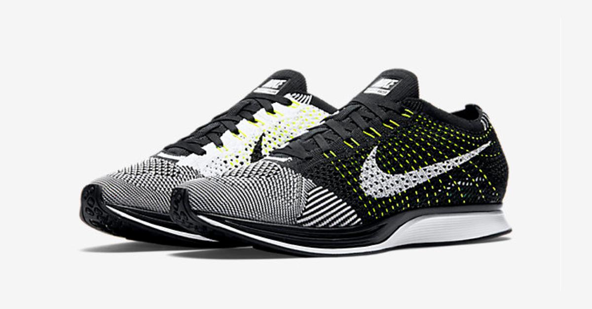 Nike Flyknit Racer Black White