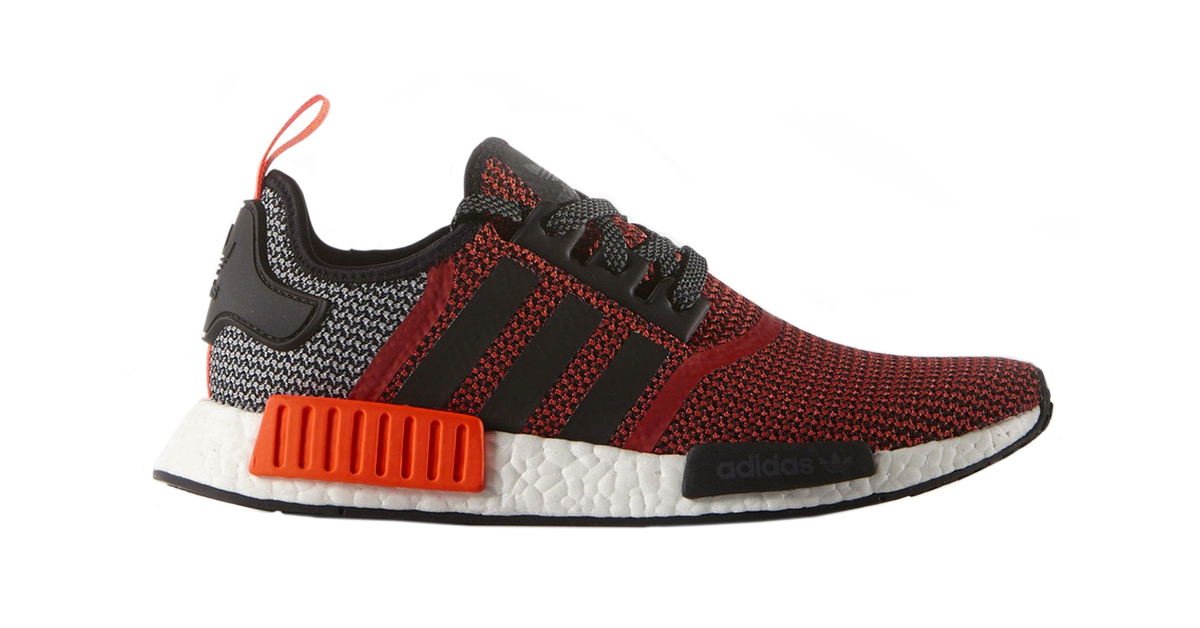 adidas nmd r1 orange red black cool sneakers. Black Bedroom Furniture Sets. Home Design Ideas