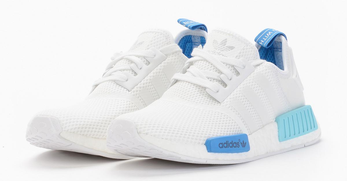 adidas nmd hvid light blå
