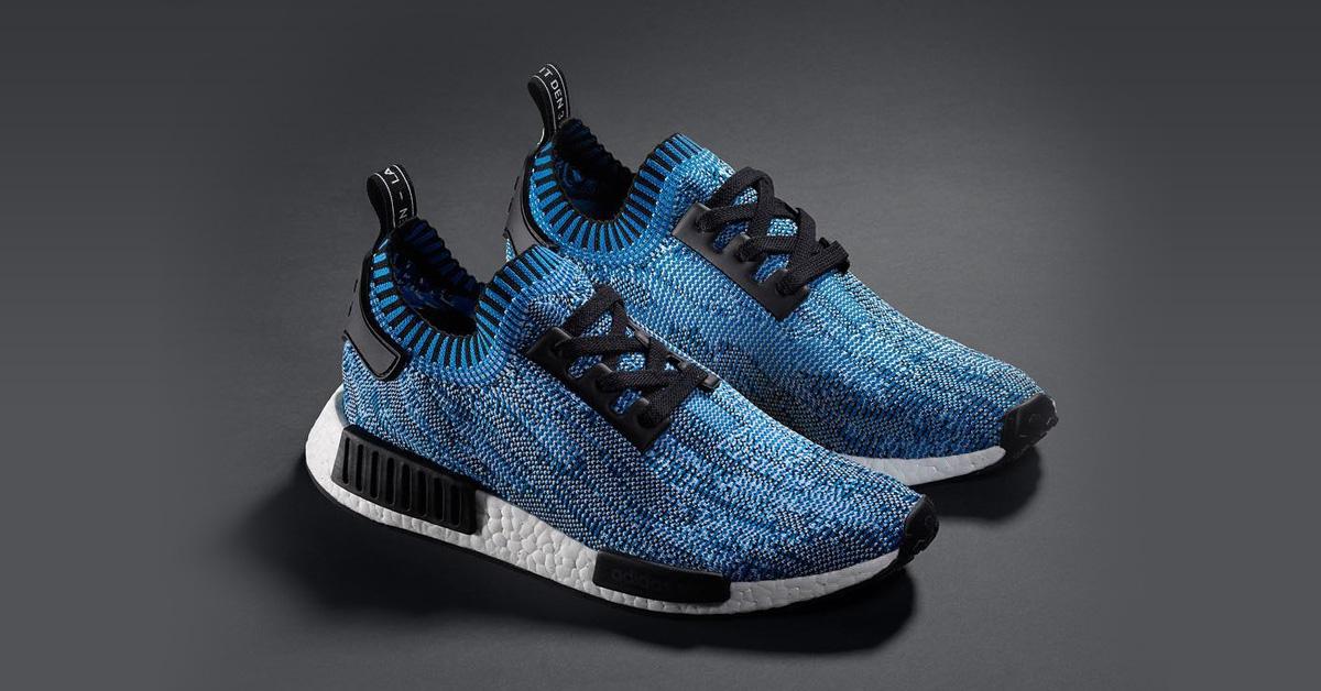 Adidas NMD R1 Primeknit Blue Camo
