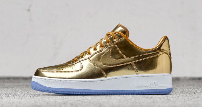 Nike Air Force 1 Low Metal Gold