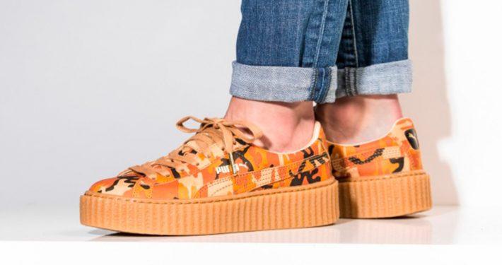 Rihanna x Puma Creeper Orange Camo
