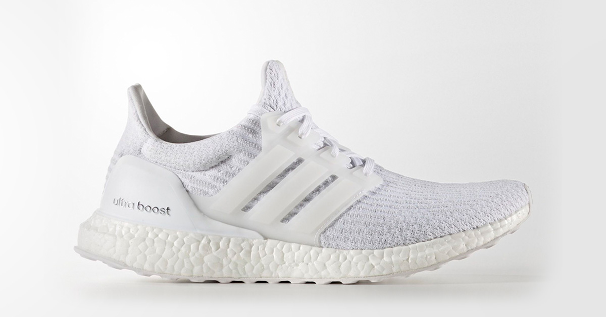 Adidas Ultra Boost 2017 Triple White Cool Sneakers