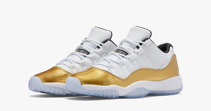 Nike Air Jordan 11 Retro Low White Metallic Gold