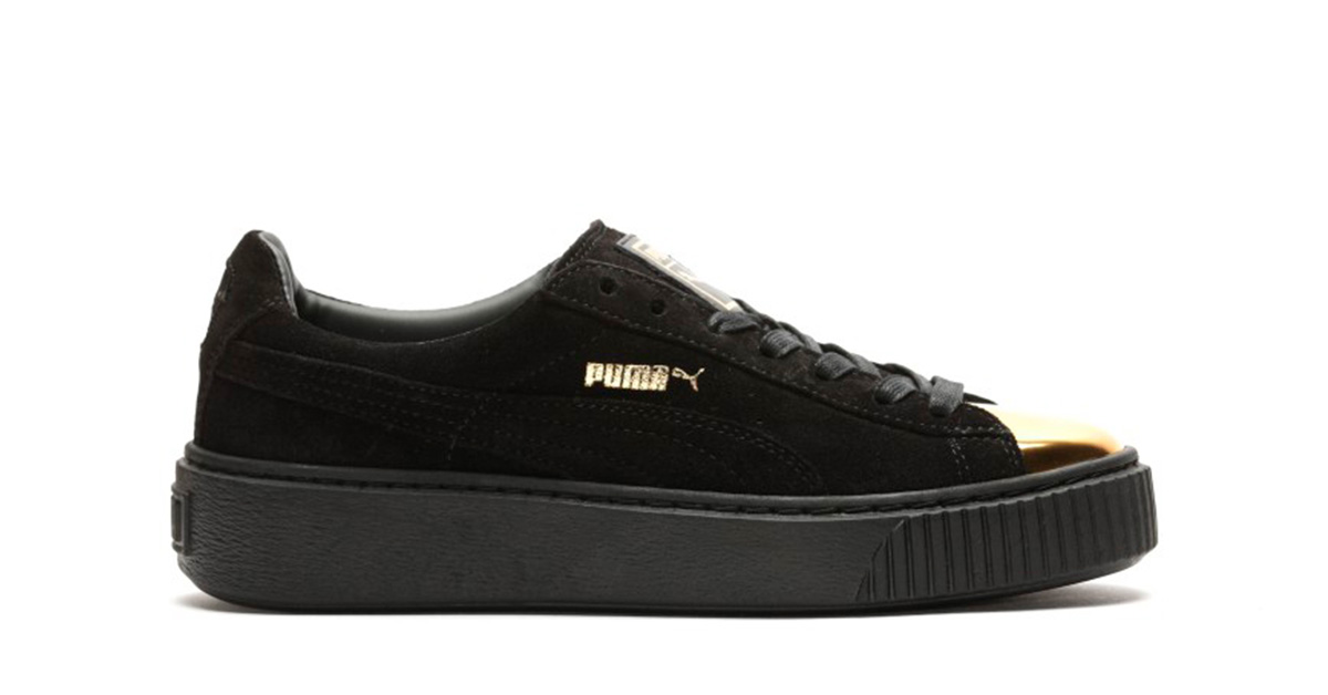 Puma Suede Platform White Gold Cool Sneakers