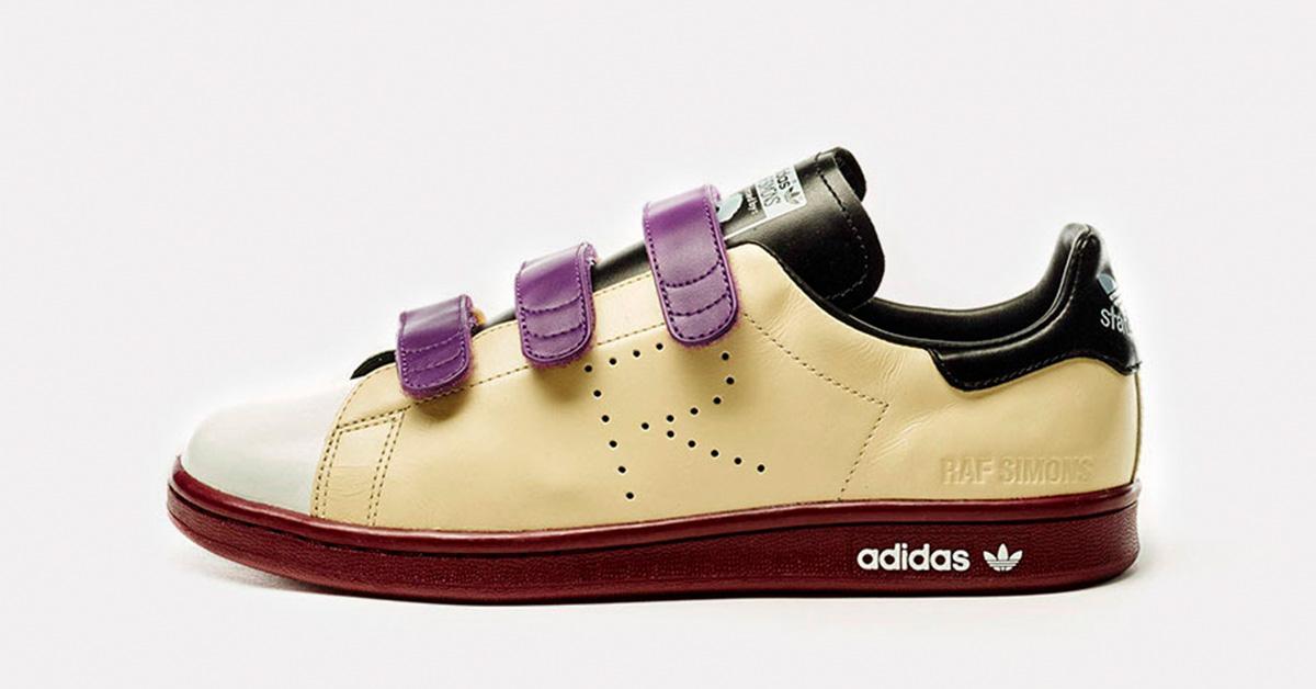 Raf Simons x Adidas Stan Smith CF Ivory Cool Sneakers