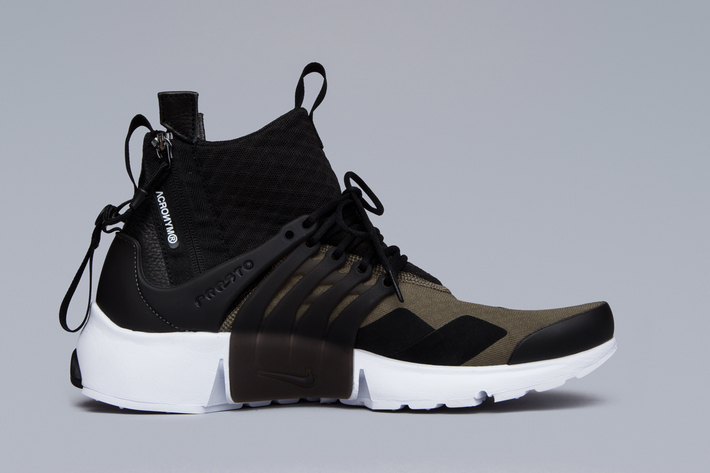 wholesale dealer ede98 81235 Acronym x NikeLab Air Presto Mid Olive