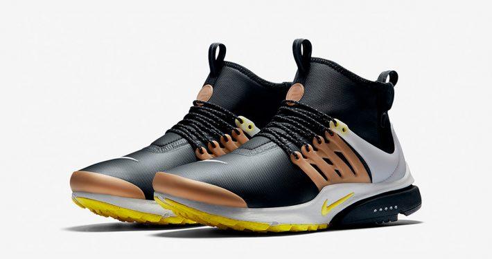 Nike Air Presto Mid Utility Black Yellow