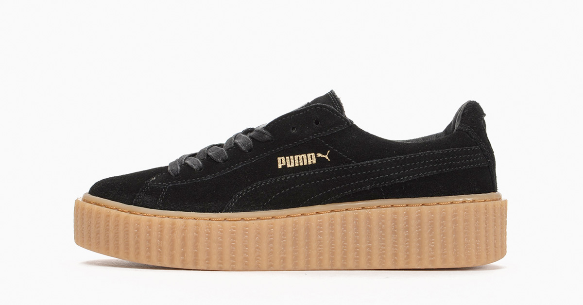 Rihanna x Puma Creeper Black Gum Cool Sneakers