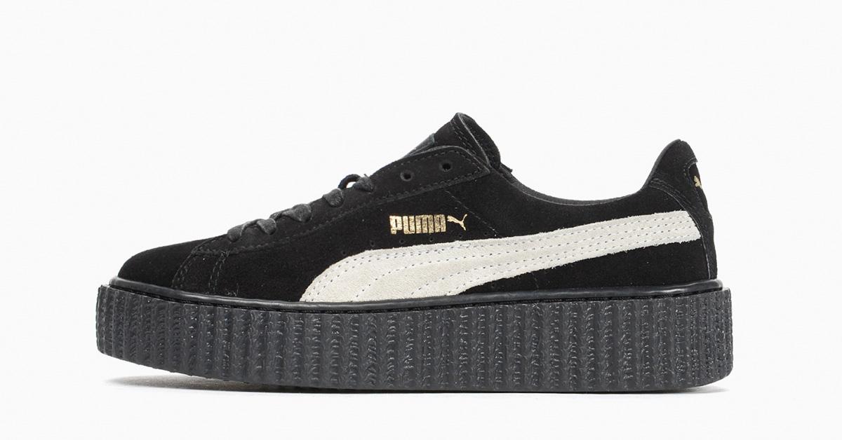Rihanna x Puma Creeper Black White