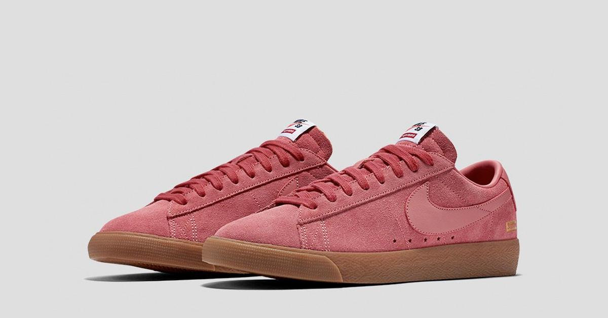 the latest 6a8f6 3685b Supreme x Nike SB Blazer Low GT Desert Bloom - Cool Sneakers