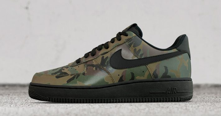 Nike Air Force 1 Low Black Camo