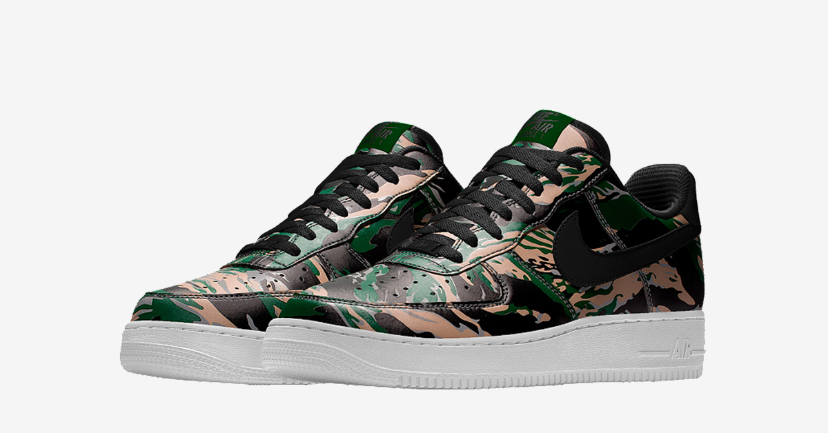 Nike Air Force 1 Low Tiger Camo Cool Sneakers