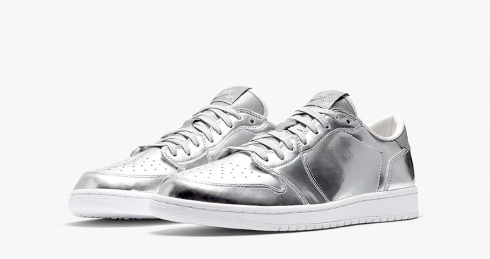 Nike Air Jordan 1 Low Pinnacle Metallic Silver