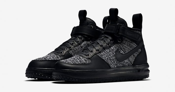Womens Nike Lunar Force 1 Flyknit Workboot Black
