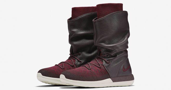 Womens Nike Roshe Two Hi Flyknit Deep Burgundy