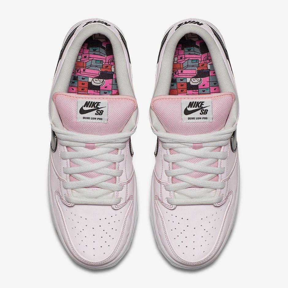 Nike SB Dunk Low Elite Pink Box Cool Sneakers