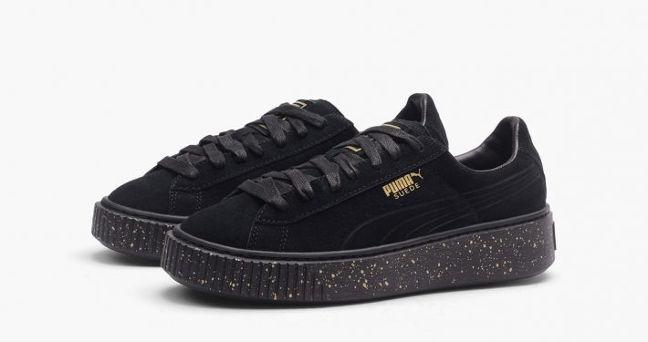 Puma Suede Platform Speckled Black