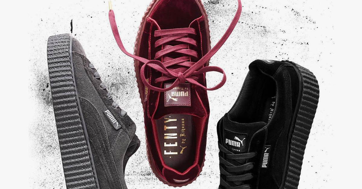 Rihanna x Puma Creeper Red Velvet Cool Sneakers