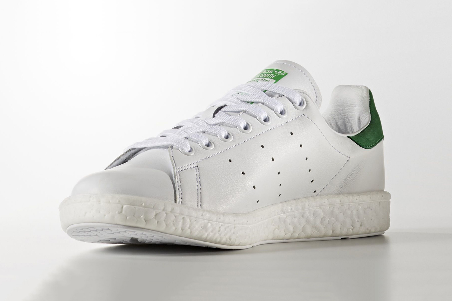 Adidas Stan Smith Boost White Green Cool Sneakers