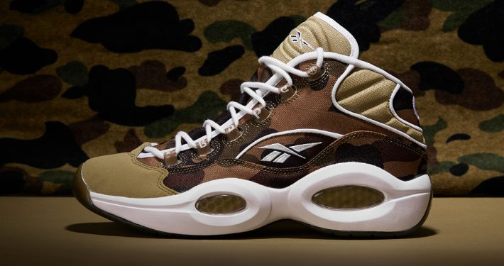 BAPE x Reebok Question Mid Camouflage