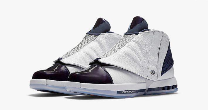 Nike Air Jordan 16 Retro White Midnight Navy