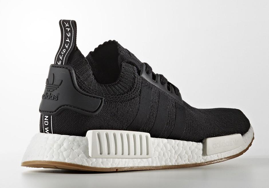 Adidas NMD R1 Primeknit Gum Pack Black Cool Sneakers