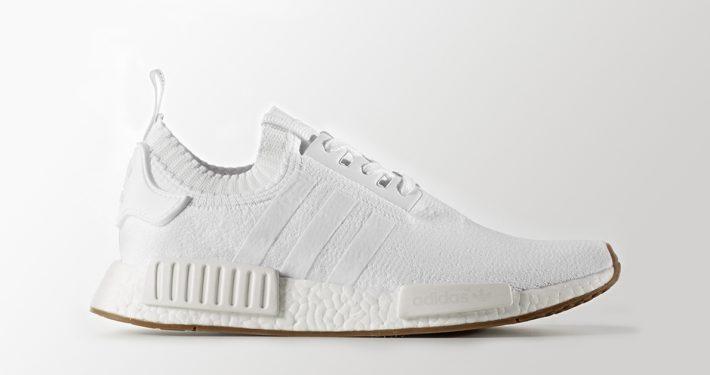 Adidas NMD R1 Primeknit Gum Pack White