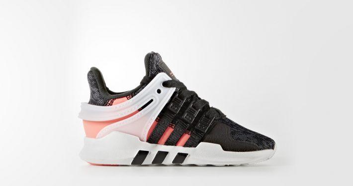 Kids Adidas EQT Support Adv Black Turbo Red