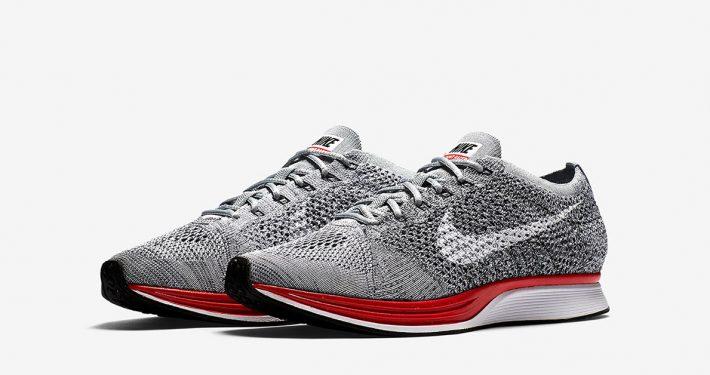 Nike Flyknit Racer Platinum Red