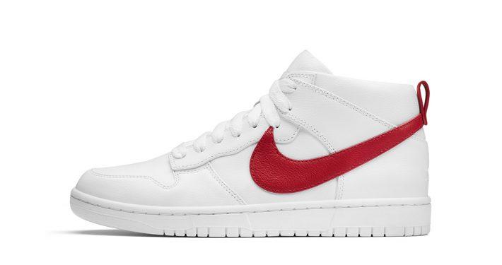 R.T. x NikeLab Dunk Lux Chukka White Red