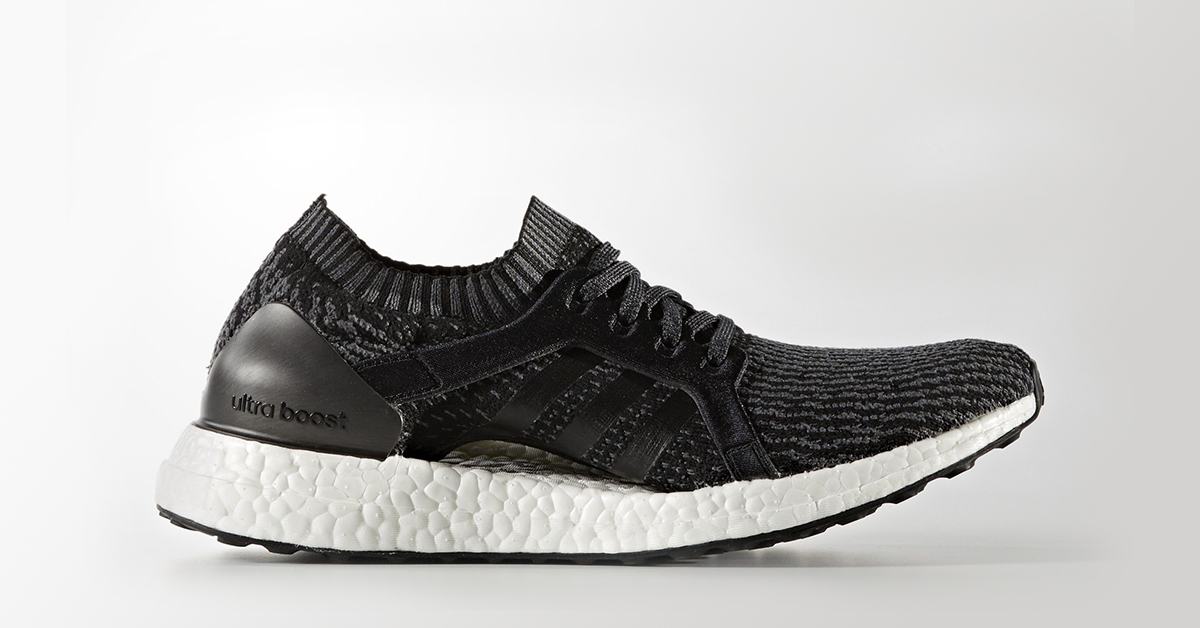 Womens Adidas Ultra Boost X Black Cool Sneakers